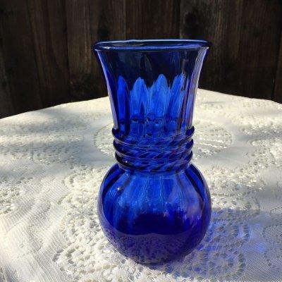 画像1: ファイヤーキング コバルトブルー スワール 花瓶