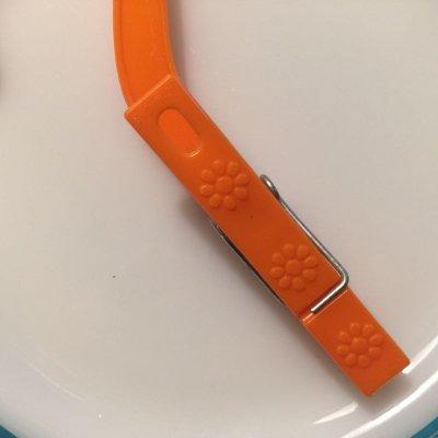画像3: ビンテージ 洗濯バサミ  フラワー・オレンジ