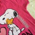 画像3: 新品タグ付き  Tシャツ スヌーピー「2015年 アイ・ラブ・ボストン」ピンク ガールズS  2015年 (3)