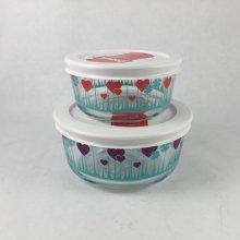他の写真1: 新品パイレックス ミッドナイト・ガーデン / パープル 2カップ(470ml) 保存容器 密閉フタ付