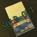 sold 新品リーガルパッド インデックスカードサイズ30〜40枚 3冊セット アメリカ製