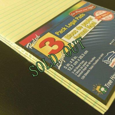 画像2: sold 新品リーガルパッド インデックスカードサイズ30〜40枚 3冊セット アメリカ製