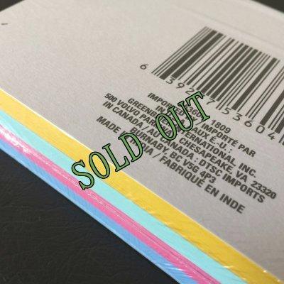画像3: sold 新品カラーインデックスカード(小)罫線入4色100枚パック インド製