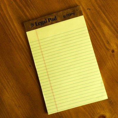 画像1: 新品リーガルパッド インデックスカードサイズ50枚 アメリカ製