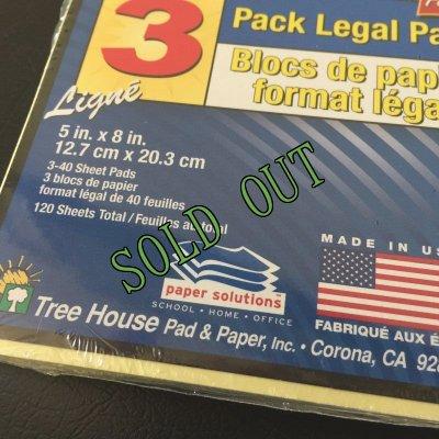 画像3: sold 新品リーガルパッド インデックスカードサイズ30〜40枚 3冊セット アメリカ製