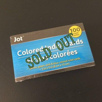 画像1: sold 新品カラーインデックスカード(小)罫線入4色100枚パック インド製