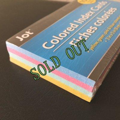 画像2: sold 新品カラーインデックスカード(小)罫線入4色100枚パック インド製
