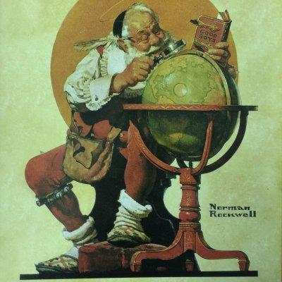 画像4: ノーマン・ロックウェル 1926年のクリスマス・デザイン ティン・トレー