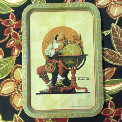 画像2: ノーマン・ロックウェル 1926年のクリスマス・デザイン ティン・トレー