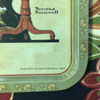 画像3: ノーマン・ロックウェル 1926年のクリスマス・デザイン ティン・トレー