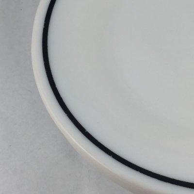 画像3: アンカーホッキング ミルクグラス レストランウエア ブラック・ライン シリーズ デザートプレート