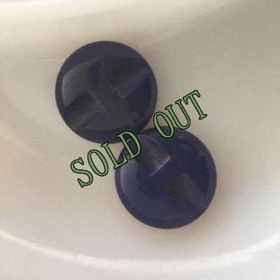 画像3: sold 中古 ビンテージ・大型トリコロール・ボタン 2 pc