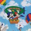 ディズニー ミッキー&ミニー& 気球/風船 ツインサイズ フラットシーツ