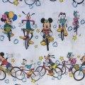 ディズニー ミッキー&ミニー サイクリング/自転車 ツインサイズ フラットシーツ