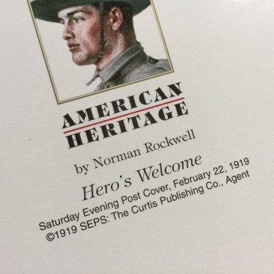 画像5: ノーマン・ロックウェル 1919年作品「英雄帰還」 2002年新品未使用ブランク・グリーティングカード