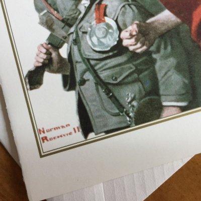 画像2: ノーマン・ロックウェル 1919年作品「英雄帰還」 2002年新品未使用ブランク・グリーティングカード