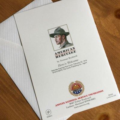 画像3: ノーマン・ロックウェル 1919年作品「英雄帰還」 2002年新品未使用ブランク・グリーティングカード