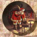 トム・ブラウニング 1991年 サンタの愛 シリアルナンバー入り飾り絵皿 証明ほかオリジナル書類・ボックス付