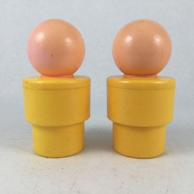 画像2: ビンテージ フィッシャープライス イエローボディ人形 2pc 1974 一部難あり