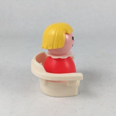 画像2: ビンテージ フィシャープライス 白い椅子に座る女の子 2pc セット