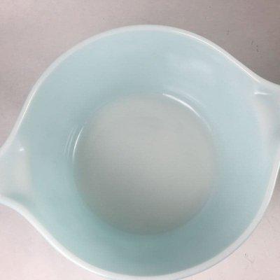 画像4: パイレックス バタープリント/ブルー ミルクグラス・ラウンド・キャセロール 1クウォート(約lリットル) その4