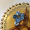 中古 ビンテージ・ダブル ターコイズ ブルー・ボタン 6 pc