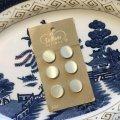 デッドストック・ホワイトフラット ボタン 6 pc