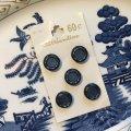 デッドストック ネイビーダブルラウンドボタン 5 pc 日本製
