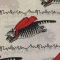 キルバン・キャッツ 赤いマント ツインサイズ フラットシーツ