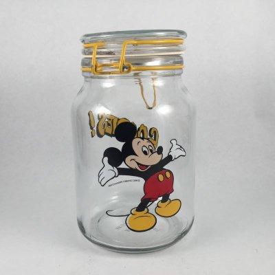 画像1: アンカーホッキング  ディズニー・ミッキーマウス ガラスキャニスタージャー