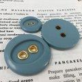ビンテージ モス・ブルー ボタン 3pc セット