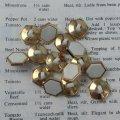 ホワイト&ゴールド・6角形 ボタン 7pc セット