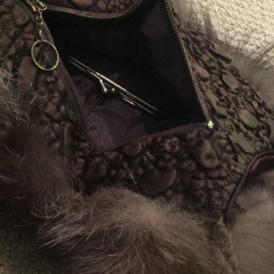 画像3: ビンテージ・ブラウン ミンク ファッション・バック