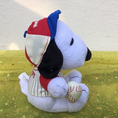 画像1: スヌーピー メットライフ非売品ぬいぐるみ 野球選手