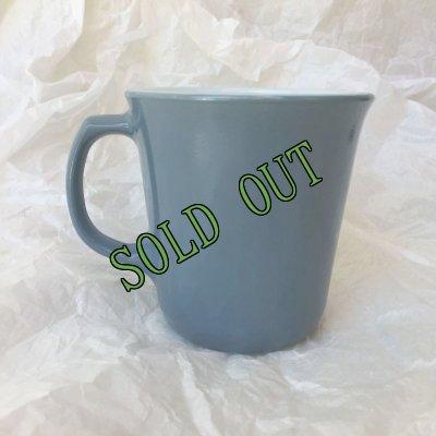 画像2: sold パイレックス ミルクグラス カラーマグ スチールブルー