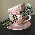 sold ロイヤルウェセックス ピンクウィロー「ウィロー・ローザ」ティーカップ2個&ソーサー1枚セット made in England