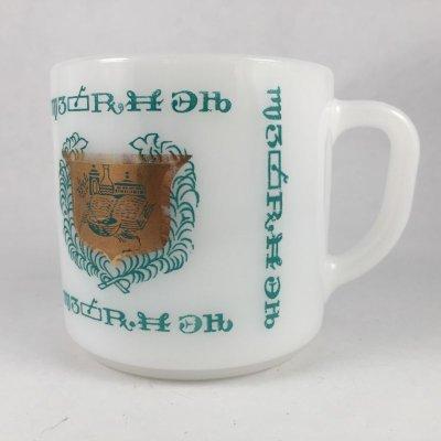 画像2: フェデラル ファーマシー ターコイズ・ミルクグラス マグカップ