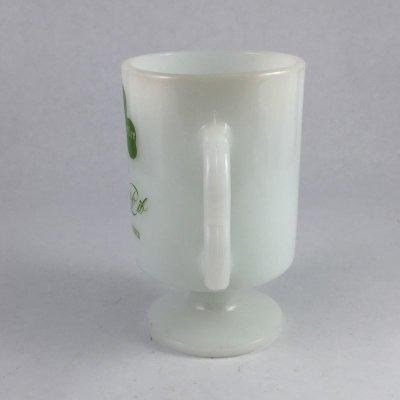 画像2: ビンテージ ミルクグラス アイリッシュ・コーヒー マグ