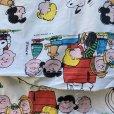 画像8: レアミスプリ! スヌーピーと仲間たち 1971年 ビンテージシーツ  ハピネス柄 ツインサイズ フラットシーツ ほつれあり