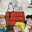 画像2: レアミスプリ! スヌーピーと仲間たち 1971年 ビンテージシーツ  ハピネス柄 ツインサイズ フラットシーツ ほつれあり (2)