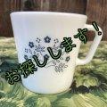 sold パイレックス ミルクグラス ブルーベリー・サマー・インプレッション マグカップ