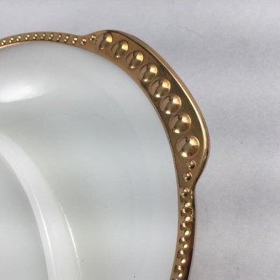 画像4: ファイヤーキング ミルクグラス 22Kゴールドトリム デバイデッド・レリッシュ・トレイ