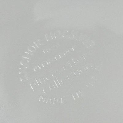 画像5: アンカーホッキング ミルクグラス・プレイスシッター ランチプレート アブストラクト・プリント 1970s'