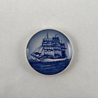 画像2: ロイヤル・コペンハーゲン ミニプレート 帆船 デンマーク号
