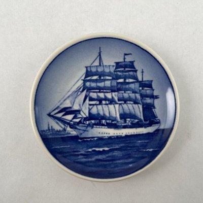 画像1: ロイヤル・コペンハーゲン ミニプレート 帆船 デンマーク号