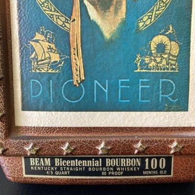 画像2: ノーマン・ロックウェル 1976年ジムビーム創業(誕生?)200年記念バーボンウイスキーボトル サタデーイブニングポスト紙コレクション 1923年7月23日号「パイオニア」」