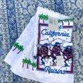 カリフォルニア・レーズン 新品タグ付デッドストック キッチンタオル 1987年