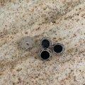 黒のフラワー・ボタン(L) 4pc セット