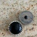 ブラック サークル・ボタン 2pc セット