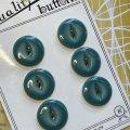 ビンテージ ピカピカグリーン ボタン 6pc セット